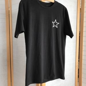 Other - GIVISVIM Large Mens black cotton tee white star